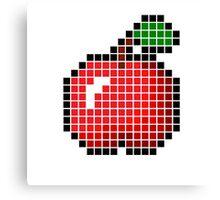 8 bit pixel apple Canvas Print