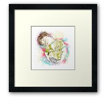 Play Hard Framed Print