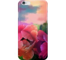 Painterly garden with Anemone flowers iPhone Case/Skin
