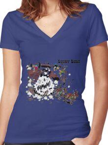 luckyluke Women's Fitted V-Neck T-Shirt