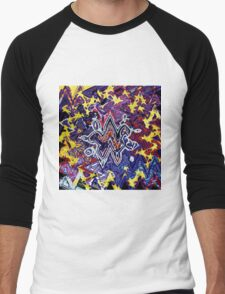 U2 - Zooropa - Waves Men's Baseball ¾ T-Shirt
