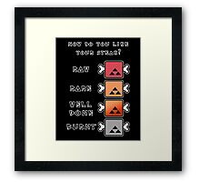 Monster Hunter STEAK Framed Print