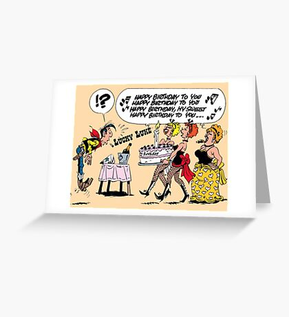 luckyluke Greeting Card