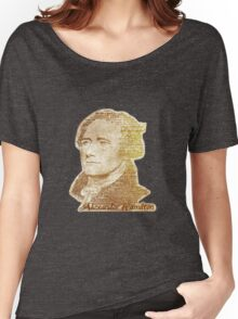 Alexander Hamilton portrait typography Women's Relaxed Fit T-Shirt
