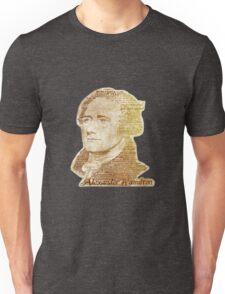 Alexander Hamilton portrait typography Unisex T-Shirt