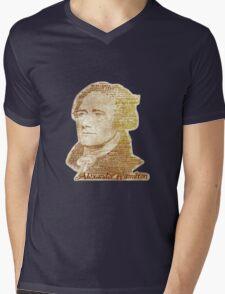 Alexander Hamilton portrait typography Mens V-Neck T-Shirt