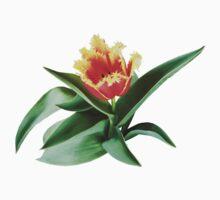 Frilly Orange Tulip Kids Tee