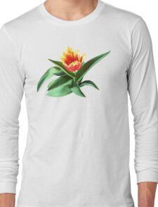 Frilly Orange Tulip Long Sleeve T-Shirt