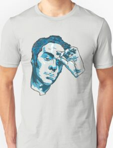 Rufus Wainwright Print In Blue  T-Shirt