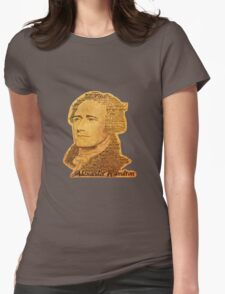 Alexander Hamilton portrait typography Womens Fitted T-Shirt