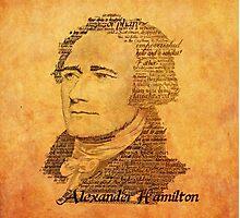 Alexander Hamilton portrait typography Photographic Print