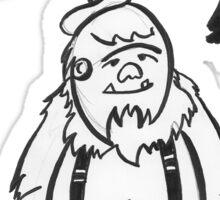Stinky Eddie the Yeti : Turquoise Sticker
