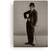 Charlie Chaplin Painting Canvas Print