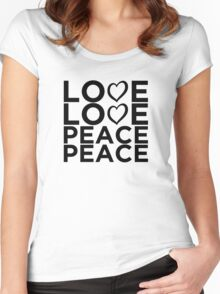 Love Love Peace Peace [Eurovision] Women's Fitted Scoop T-Shirt