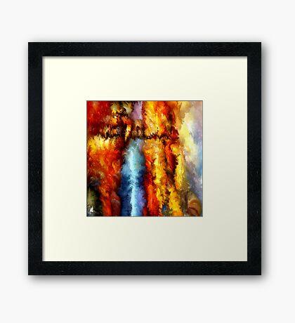 modern composition 05 by rafi talby Framed Print