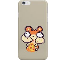 Hamster Eating Pizza Pixel Art iPhone Case/Skin