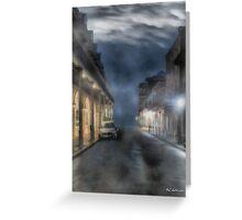 Rue Brumeuse Greeting Card