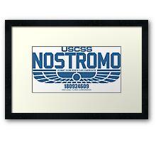 NOSTROMO ALIEN MOVIE STARSHIP (BLUE) Framed Print