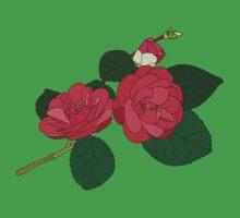 Camellia  One Piece - Short Sleeve