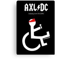 Funny AXL/DC Leipzig Canvas Print
