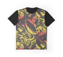 Fruit and Seeds Sunset Graphic T-Shirt