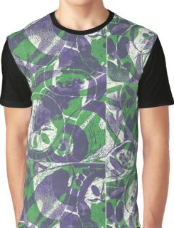 Fruit and Seeds Green/Purple Graphic T-Shirt