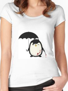 Murderous Penguin Women's Fitted Scoop T-Shirt