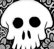 Grey Scale Skull Mandala Sticker