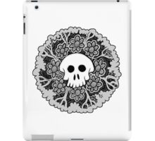 Grey Scale Skull Mandala iPad Case/Skin