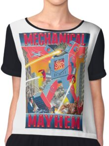 Mechanical Mayhem Chiffon Top