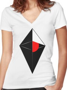 No man's sky cool logo poster, shirt, sticker and much more Women's Fitted V-Neck T-Shirt