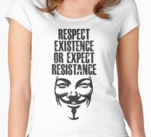 Resistance. Women's Fitted Scoop T-Shirt