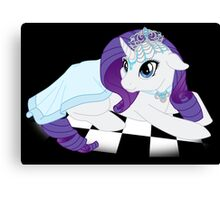 White Queen Rarity on white checkers Canvas Print