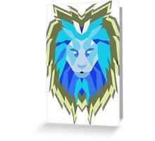 Hologram Lion Greeting Card