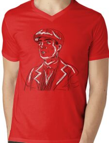 Tommy Shelby Graphic- Peaky Blinders Mens V-Neck T-Shirt