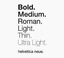 helvetica neue weights Unisex T-Shirt