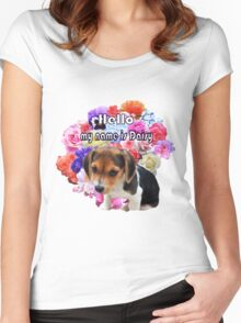 Little Beagle Named Daisy Women's Fitted Scoop T-Shirt