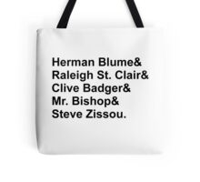 Bill Murray Wes Anderson Characters Tote Bag
