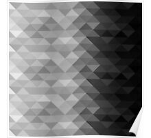 Grayscale triangle geometric squares Poster