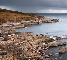 Leac Mhor at Rubha Beag by Christopher Cullen