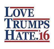 Love Trumps Hate Photographic Print