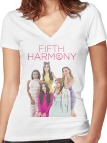 CUTE 5H (OT5  Women's Fitted V-Neck T-Shirt