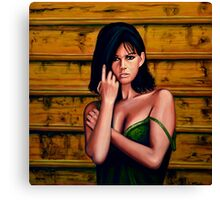 Claudia Cardinale Painting Canvas Print