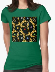 gold party  3 Womens Fitted T-Shirt