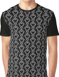 Sigil of Lucifer - White Graphic T-Shirt
