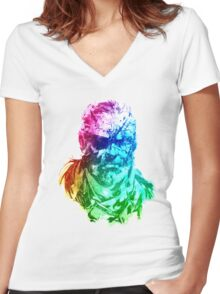 The Man of Pain Women's Fitted V-Neck T-Shirt