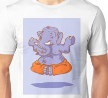 Elephant yoga Unisex T-Shirt