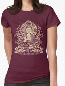 Siddhartha Gautama Buddha Yellow Womens Fitted T-Shirt