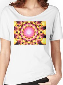 Pink Gold Aster Women's Relaxed Fit T-Shirt