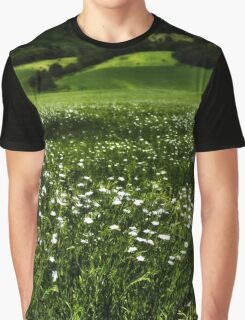 Grass Field And Flowers 1 Graphic T-Shirt